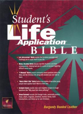 Image for Student's Life Application Bible (New Living Translation, Bonded Leather, Burgundy)