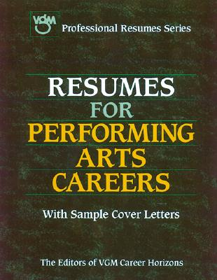 Image for RESUMES FOR PERFORMING ARTS CAREERS