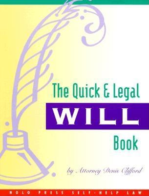 Image for The Quick & Legal Will Book