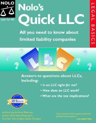 Image for Nolo's Quick LLC: All You Need to Know About Limited Liability Companies (Legal Basic Series)