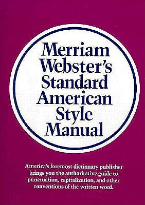 Image for Merriam-Webster's Standard American Style Manual