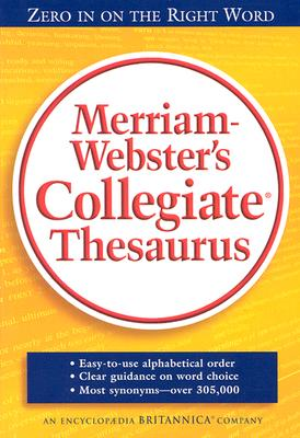 Image for Merriam Webster's Collegiate Thesaurus