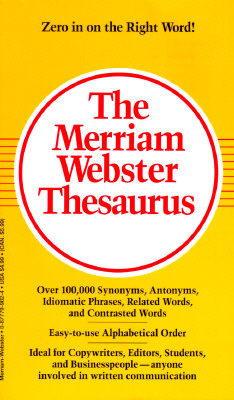 Image for Merriam-Webster Thesaurus