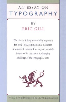 An Essay on Typography, ERIC GILL