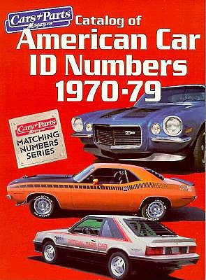 Image for Catalog of American Car I.D. Numbers 1970-79