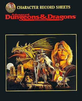 CHARACTER RECORD SHEETS (Advanced Dungeons and Dragons 2nd Edition Accessory), TSR, Inc.