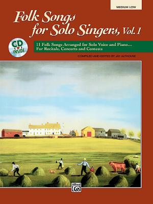Image for Folk Songs for Solo Singers: Medium Low (Paperback Book & CD)
