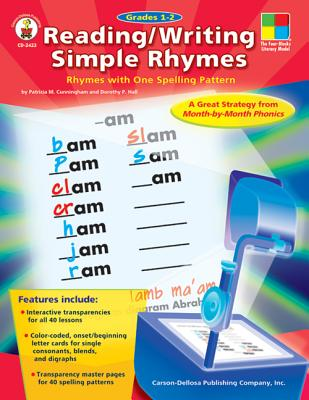 Image for Reading/Writing Simple Rhymes, Grades 1 - 2: Rhymes with One Spelling Pattern (Four-Blocks Literacy Model) (The Four Blocks Literacy Model)