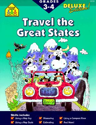 Image for School Zone - Travel the Great States Workbook - 64 Pages, Ages 8 and Up, Geography, Maps, United States, and More (School Zone Activity Zone Workbook Series)