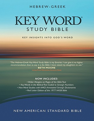 Image for Hebrew-Greek Key Word Study Bible: New American Standard Bible, Genuine Black, Wider Margins