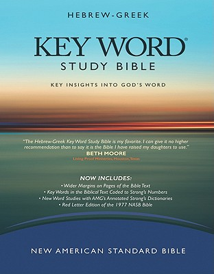 Image for Hebrew-Greek KeyWord Study Bible (2008 AMG edition): NASB-77 Bible version, Burgundy Genuine (Key Word Study Bibles)
