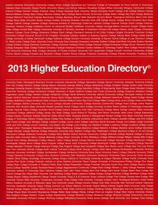 Image for 2013 Higher Education Directory