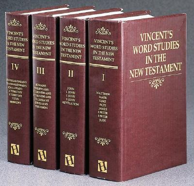 Image for Vincent's Word Studies in the New Testament (4 Volume Set)