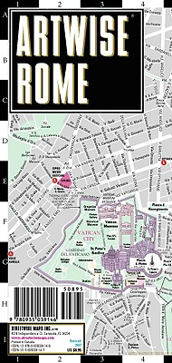 Artwise Rome Museum Map - Laminated Museum Map of Rome, Italy, Streetwise Maps