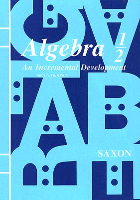 Image for Algebra 1/2: An Incremental Development, Second Edition