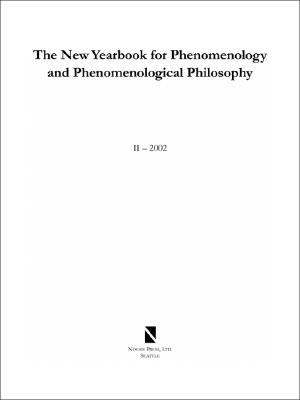 Image for The New Yearbook for Phenomenology and Phenomenological Philosophy