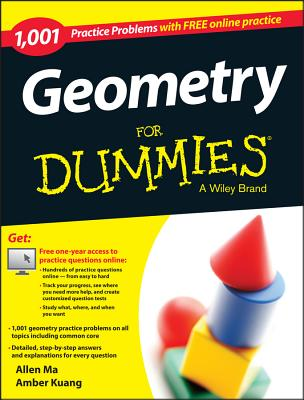 Image for Geometry: 1,001 Practice Problems For Dummies (+ Free Online Practice)