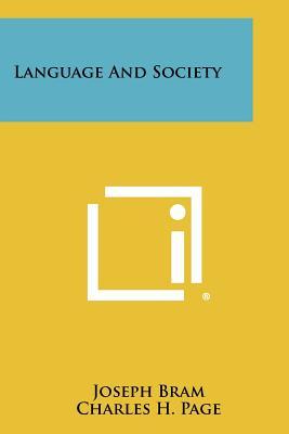 Language And Society, Bram, Joseph