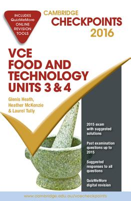 Image for Cambridge Checkpoints VCE Food & Technology Units 3&4 2016 (print & digital)