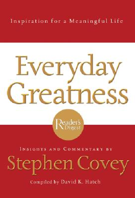 Image for FranklinCovey Everyday Greatness: Inspiration for a Meaningful Life - Hardcover