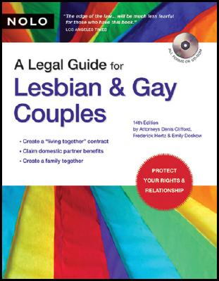 Image for LEGAL GUIDE FOR LESBIAN AND GAY COUPLES 14TH ED