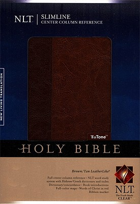 Image for Slimline Center Column Reference Bible NLT, TuTone (Slimline Reference: Nltse)