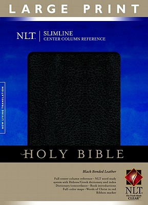 Slimline Reference Bible NLT, Large Print, Center Column Reference edition
