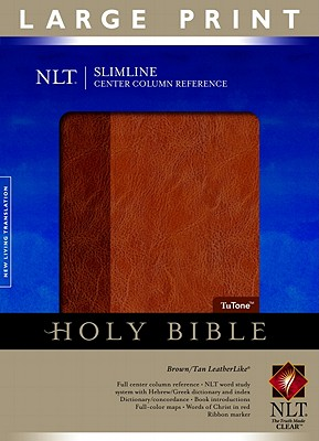 Image for Slimline Reference Bible NLT, Large Print, TuTone Center Column Reference edition