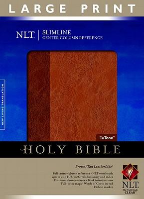 Slimline Reference Bible NLT, Large Print, TuTone Center Column Reference edition