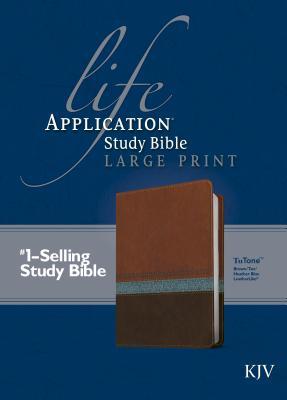Image for Life Application Study Bible KJV, Large Print (Brown/Tan/Heather Blue)