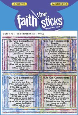 Image for Ten Commandments (Faith That Sticks Stickers)