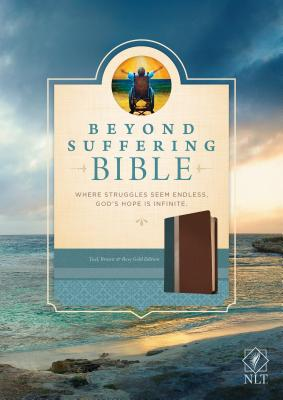 "Image for ""''Beyond Suffering Bible NLT Teal, Brown, & Rose Gold''"""
