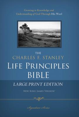 "Image for ""The Charles F. Stanley Life Principles Bible (2772, NKJV, Signature Series, Large Print Edition)"""
