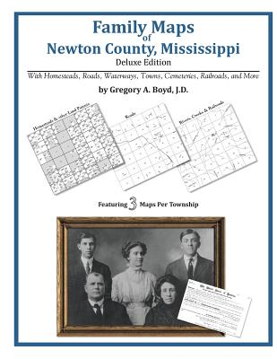 Family Maps of Newton County, Mississippi, Boyd J.D., Gregory A