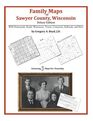 Family Maps of Sawyer County, Wisconsin, Boyd J.D., Gregory A.