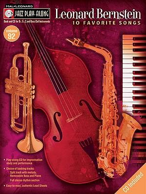 Image for Leonard Bernstein: Jazz Play-Along Volume 92 (Hal Leonard Jazz Play-Along)