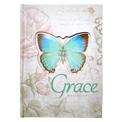 Image for JLD004 Jnl HC Die Cut Lg Butterfly Grace Eph 2:8