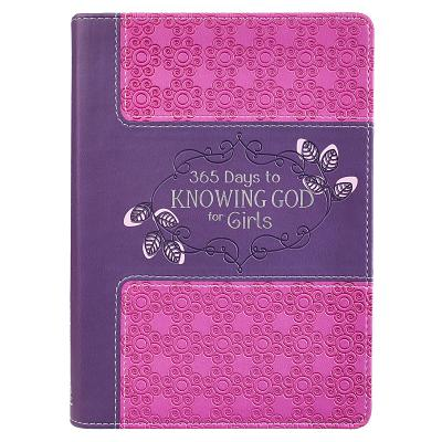 Image for 365 Days to Knowing God for Girls (LuxLeather)