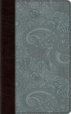 Image for ESV Thinline Bible (TruTone, Chocolate/Blue, Garden Design)
