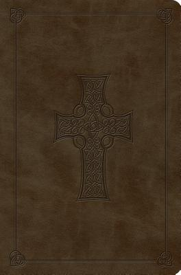 "Image for ""ESV Compact Outreach Bible, Premium Edition (TruTone, Olive, Celtic Cross Design)"""