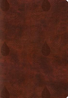 "Image for ""''ESV Single Column Journaling Bible, Large Print, TruTone, Chestnut, Leaves Design''"""