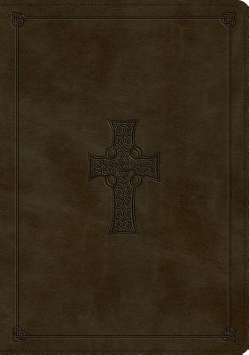 "Image for ""ESV Study Bible (TruTone Imitation Leather, Olive, Celtic Cross Design)"""