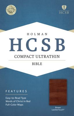 Image for HCSB Compact Ultrathin Bible, Brown LeatherTouch
