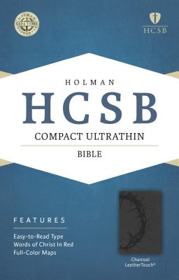 Image for HCSB Compact Ultrathin Bible, Charcoal LeatherTouch
