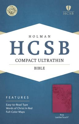 Image for HCSB Compact Ultrathin Bible, Pink LeatherTouch