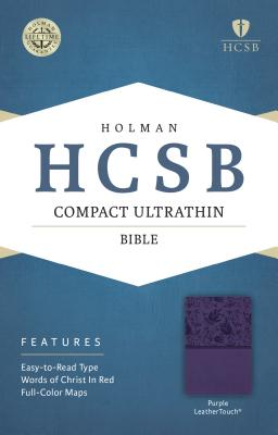 Image for HCSB Compact Ultrathin Bible, Purple LeatherTouch