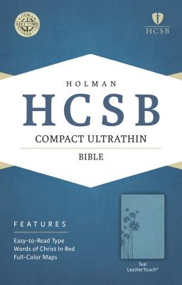 Image for HCSB Compact Ultrathin Bible, Teal LeatherTouch