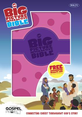 Image for NKJV Big Picture Interactive Bible, Purple/Pink Polka Dot LeatherTouch: Connecting Christ Throughout God's Story (The Gospel Project)