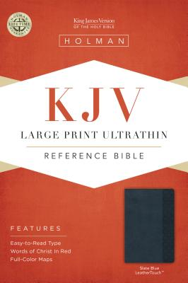 Image for KJV Large Print Ultrathin Reference Bible, Slate Blue LeatherTouch