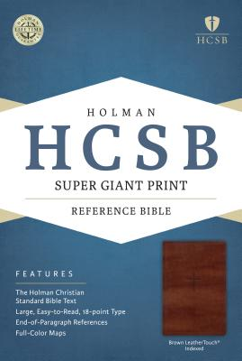 Image for HCSB Super Giant Print Reference Bible, Brown LeatherTouch